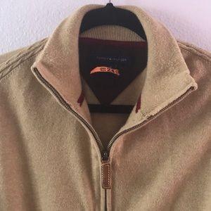 Tan Tommy Hilfiger cotton/cashmere sweater